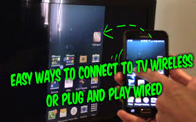 How to connect Android iPhone phones tablets to TV wireless or wired