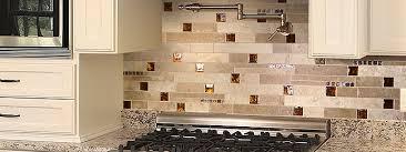 brown glass travertine backsplash tile backsplash