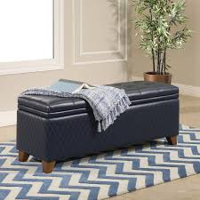 Navy Storage Bench by Attractive Navy Storage Ottoman With Inspired Home Navy Scarlett
