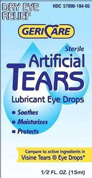 Gericare Artifical Tears Lubricant Eye Drops - 0.5oz