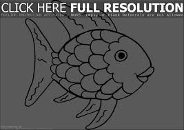 Funny Rainbow Fish Coloring Pages For Kids