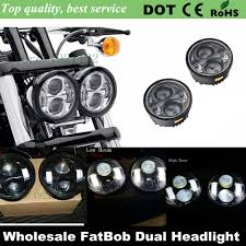 bob led headlights h l beam headl motorcycle projector