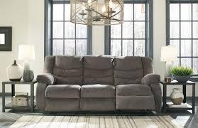 Ashley Furniture Hogan Reclining Sofa by Tulen Gray Reclining Sofa By Ashley Furniture