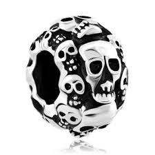 Pandora Halloween Charms by Pugster Gold Plated Jack O Lantern Weird Halloween Ghost Pumpkin