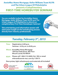 First Time Home Buyer Seminar Urban League of Philadelphia