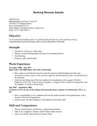 Spectacular Resumes For Working At A Bank Resume Job Sample