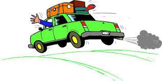 Family Car Travel Clipart
