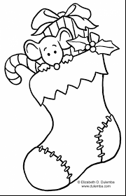 Impressive Christmas Stocking Coloring Page With Tree Pages Printable And