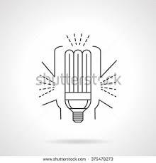 energy efficient eco l fluorescent light stock vector 375478273