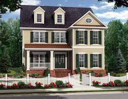 Pictures Small Colonial House by Colonial House Plan Valine