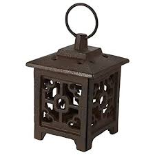 Juvale Rustic Iron Lantern Candle Holder