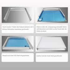 küchen pro high lumen vkele led panel deckenleuchte 120x30cm