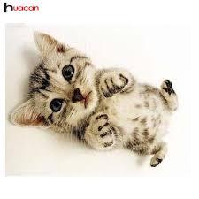tea cup cat 40x50cm mini cat teacup cat needlework decoration 3d