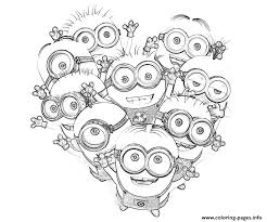 Chic Despicable Me Coloring Pages Kids Minions S0085 Colouring Print