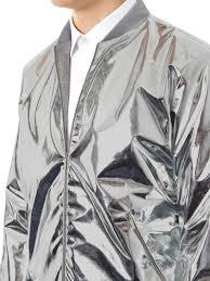 richard nicoll metallic lightweight bomber jacket in metallic for