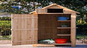 Arrow Shed Door Assembly by Merax Arrow Shed Wooden Garden Shed Wooden Lockers With Cedar Wood