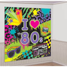 Amazoncom Totally 80s Giant Scene Setter Wall Decorating