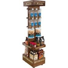 Custom Wood Display Rack Wine Racks Store Fixtures Retail