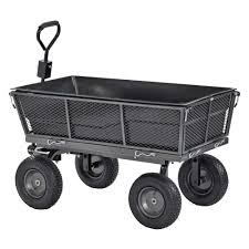 Muscle Carts 1 200 lbs Capacity Steel Dump Cart with Removable