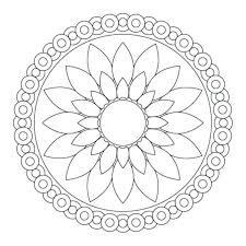 Printable Coloring Pages Flowers Adults Colouring For Mandala Pictures Simple Design
