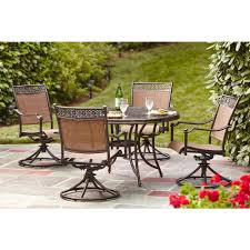Hampton Bay Patio Umbrella by Hampton Bay Niles Park 5 Piece Sling Patio Dining Set S5 Adh04301