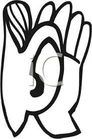Hand to Ear to Hear Better Royalty Free Clip Art Image