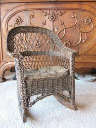 Child S Rocking Chair Cushion Set. Antique Wicker Rocking Chair ...