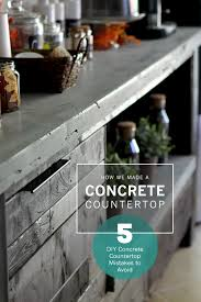 diy concrete countertop diy concrete countertop and concrete