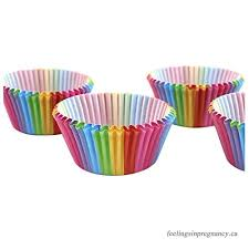 SODIAL Standard Size Rainbow Cupcake Paper Baking Cup 300 Pcs Liners