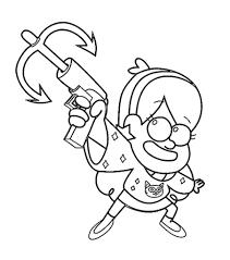 Dibujos Para Colorear De Los Personajes De Gravity Falls Para