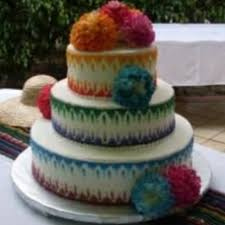 Rustic Mexican Wedding Cake Idea In Bella