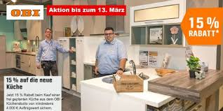 obi küchenstudio 15 rabatt bis zum 20 märz und spezielle