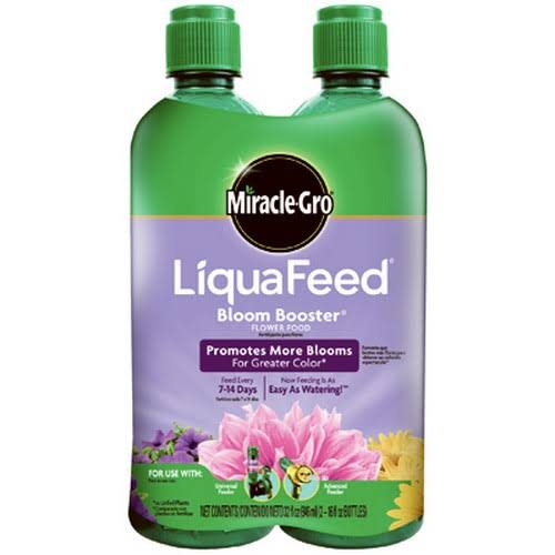 Miracle-Gro Liquafeed Bloom-Booster Flower Food Refills - 2x16oz
