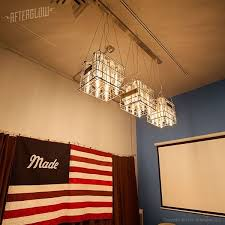 Custom Made Corporate Lighting Installation Vintage Milk Crates By Afterglow