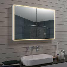alu minium led beleuchtung badezimmer bad wand schmink spiegel schrank 100 x 70