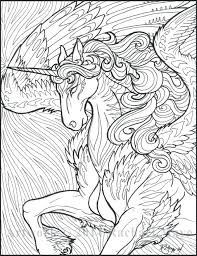 Unicorn Coloring Page Free Printable Pages For Adults Realistic
