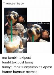 Funny Memes And Tumblr The Motto Live By More Espresso Less Depresso Me