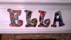 DIY How Mod Podge Wooden Letters & Disney Go To her