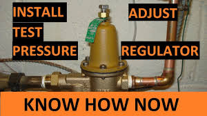 Replace a Water Pressure Regulator