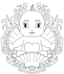 Picturesque Design Coloring Page Of A Baby Pages Babies