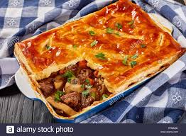 100 Golden Crust Closeup Of Delicious Beef And Mushroom Pie Topped With