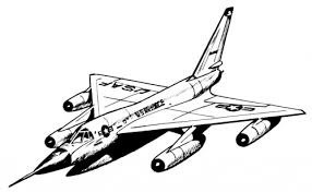 Printable Fighter Airplane Coloring Pages For Adult