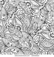 Fantasy Paisley Pattern Seamless Background Coloring Book