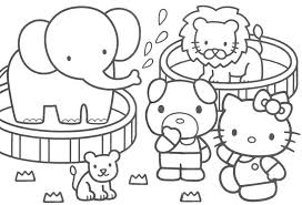 Printable Hello Kitty Coloring Pages For Kids