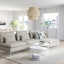 söderhamn 4er sofa mit récamiere offenes ende viarp beige braun