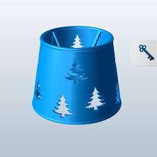 Barrel Shape W Christmas Tree Cutouts V1 3d Model