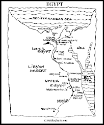 Map Of Egypt For Kid Printable Coloring Pages
