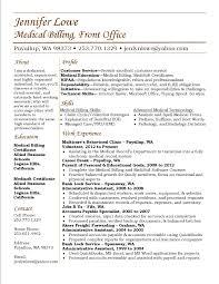 Front Desk Resume Skills by Jennifer Lowe Resume Medical Billing Resume Career Medical