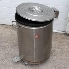 poubelle inox cuisine poubelle inox 50 litres kvt occasions