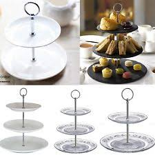 NEW 3 2 Tier Cake Stand Afternoon Tea Wedding Plates Party Tableware Display